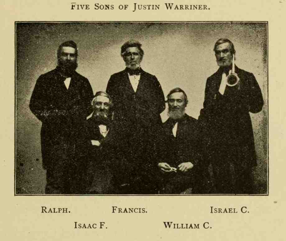 Sons of Justin Warriner, genealogy, history, ancestry