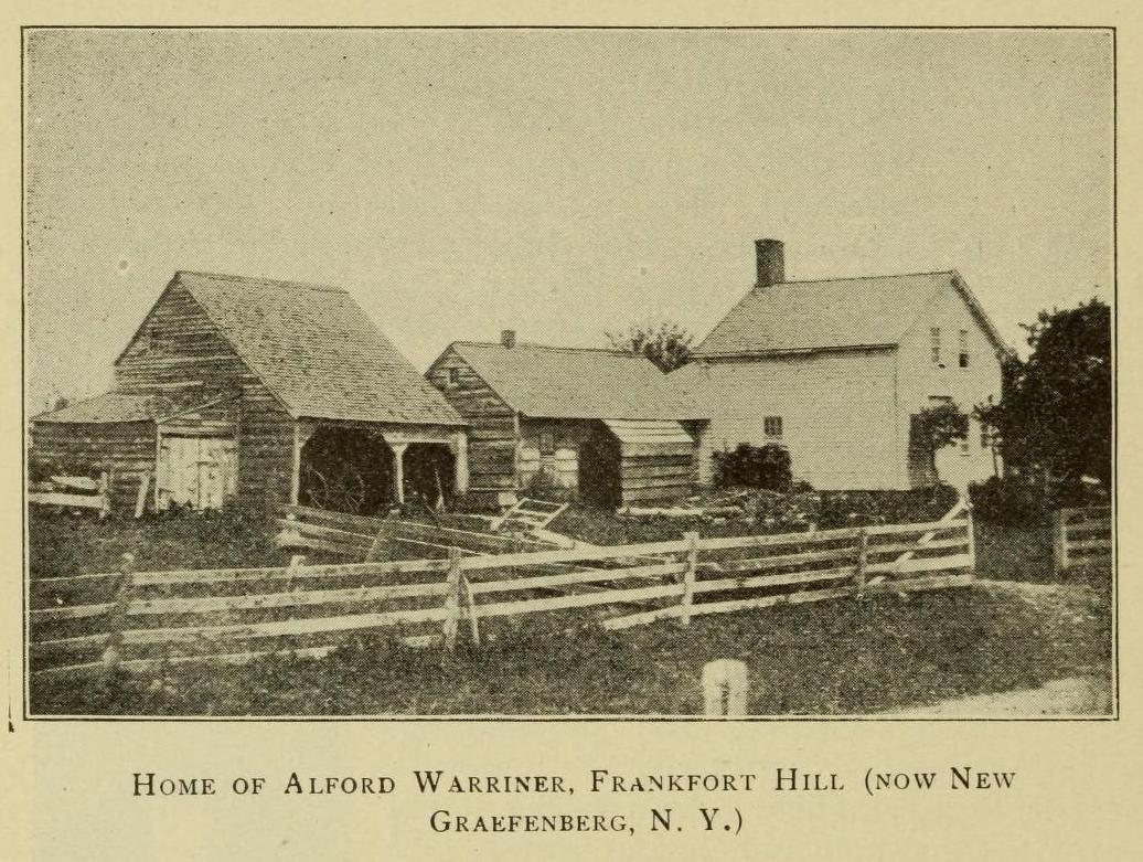 Home of Alford Warriner, genealogy, history, ancestry